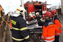 Zásah hasičů při požáru bytu v Boskovicích.