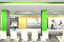 Vizualizace úprav v blanenské nemocnici.