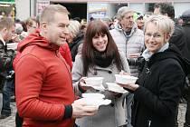 Polévka pro chudé i bohaté v Boskovicích.