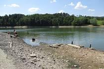 V Křetínce je nyní nezvykle málo vody.