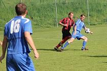 Fotbalisté Blanska prohráli doma s Hodonínem 1:2 a jejich šance na záchranu v divizi je dvě kola před koncem menší.