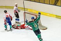 Hokejisté Rájce v posledním zápase porazili Šerkovice a oslavili titul přeborníků okresu.