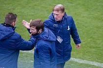Blanenský trenér Oldřich Machala (vpravo).