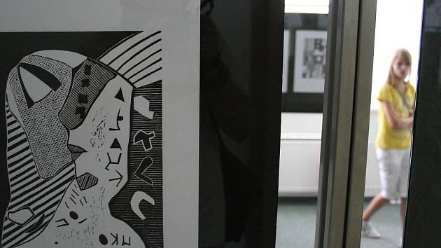 V blanenské městské knihovně vystavuje v těchto dnech výtvarnice Petra Jovanovská.