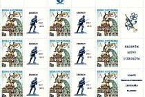 Členové Československé obce legionářské nechali vytisknout přítisk k poštovní známce. Je na něm zobrazená socha legionáře, která stojí v blanenském parku Svatopluka Čecha.