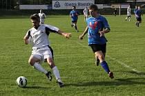Fotbalisté Blanska B remizovali v derby I. B třídy s Lipovcem 0:0.