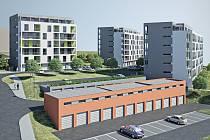 Vizualizace nových domů na blanenském sídlišti Písečná. Ilustrační foto.