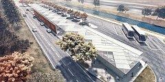 Vizualizace nového autobusového nádraží v Blansku. Dělníci ho mají začít stavět v říjnu.