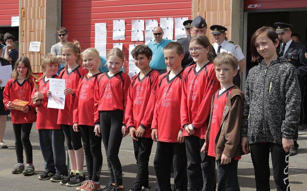 Mladí členové SDH Újezd u Kunštátu.