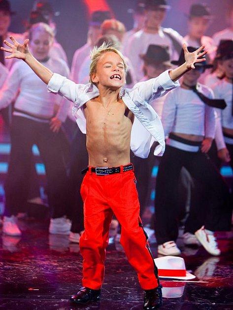 David Dostál v soutěži Talentmánia.