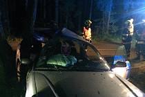 Dopravní nehoda u Rudice.