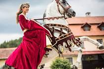 Jarmark, kostýmované prohlídky, výstava naivního malíře Jana Hrušky a také rytířský turnaj. Dvoudenní Lysické férie nabídly na zámku v Lysicích bohatý program.