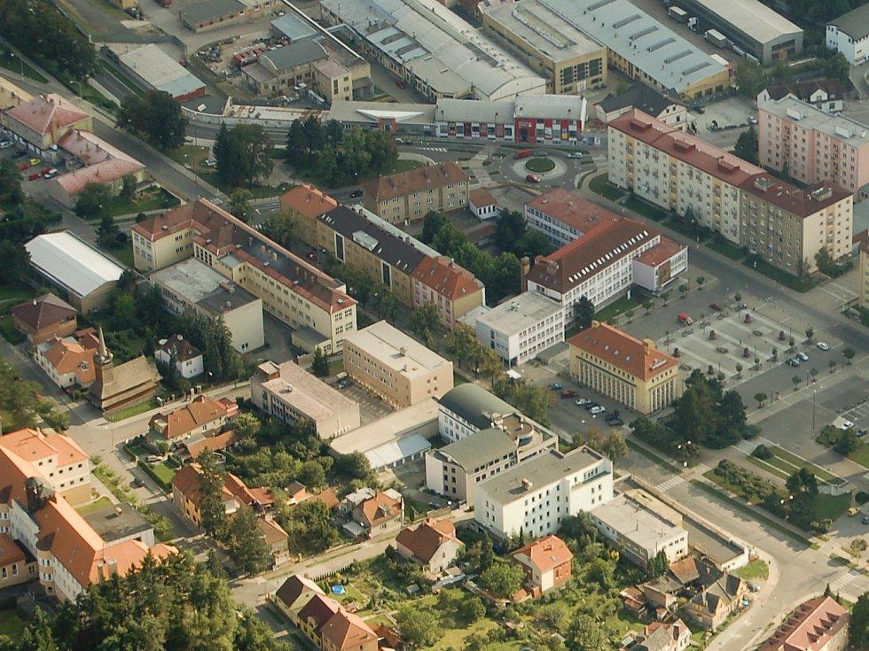 Letecký pohled na Blansko. Ilustrační foto.