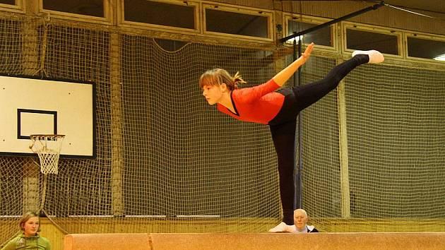 V tělocvičně blanenského gymnázia se v pátek nejen cvičilo, ale také tam naděloval Mikuláš.