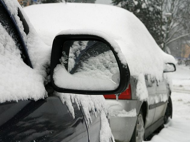 Zima na bílo. Blansko je stejně jako celý region již několik dní pod sněhovou peřinou.