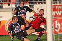Po dvou domácích prohrách fotbalisté 1. FC Brno porazili Kladno 2:0.