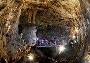 Punkevní jeskyně jsou nejnavštěvovanější v Moravském krasu