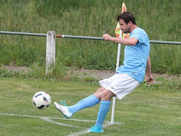 Lukáš Martínek, hrající trenér fotbalistů Boskovic.