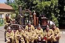 Dobrovolní hasiči v Bořitově mají ve výbavě i parní stříkačku z roku 1912.