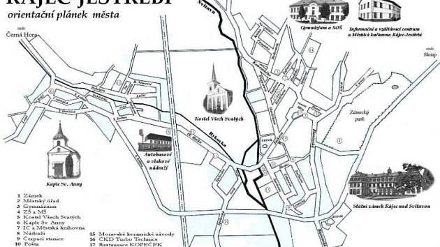 Mapka Rájce-Jestřebí
