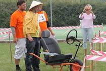 Vážanští v sobotu pořádali už třetí ročník recesistických závodů koleček s názvem O Vážansky kolečka.