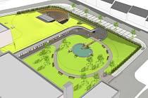Takto vypadá vizualizace Centra polytechnické výchovy a vzdělávání pro volbu budoucího povolání v Boskovicích. To má stát na ploše, kde se měla původně stavět sportovní hala u Základní školy Slovákova.