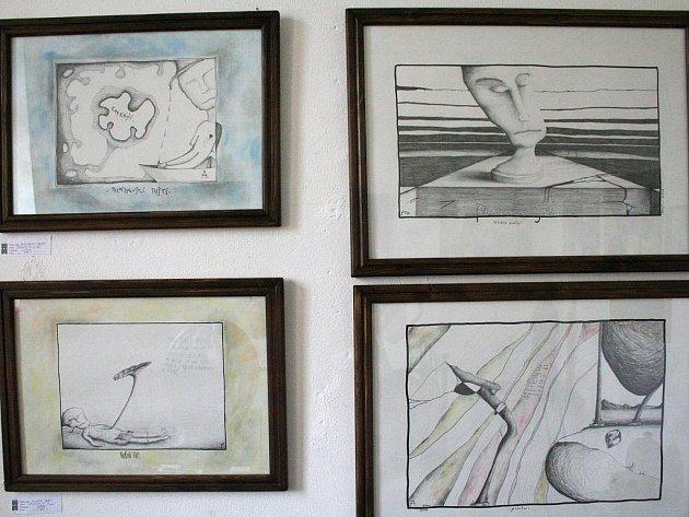 Příběhy malého Huga a jiné obrazy. Tuto výstavu umělce Švancy M. Aleše mohou v těchto dnech navštívit lidé v blanenské Galerii Ve Věži.