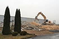 Konec poslední budovy někdejší Hurábovy cihleny v Boskovicích.