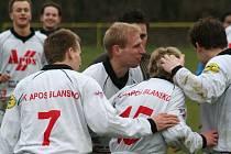 Fotbalisté Blanska se radovali ze vstřelených gólů