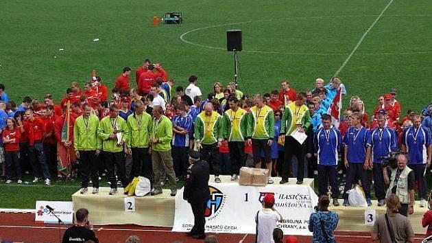 Sbor dobrovolných hasičů z Horního Poříčí na mistrovství republiky