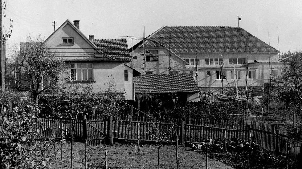 Rozestavěný kulturní dům v Těchově.