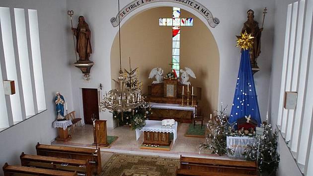 Kostel sv. Cyrila a Metoděje v Úsobrně.