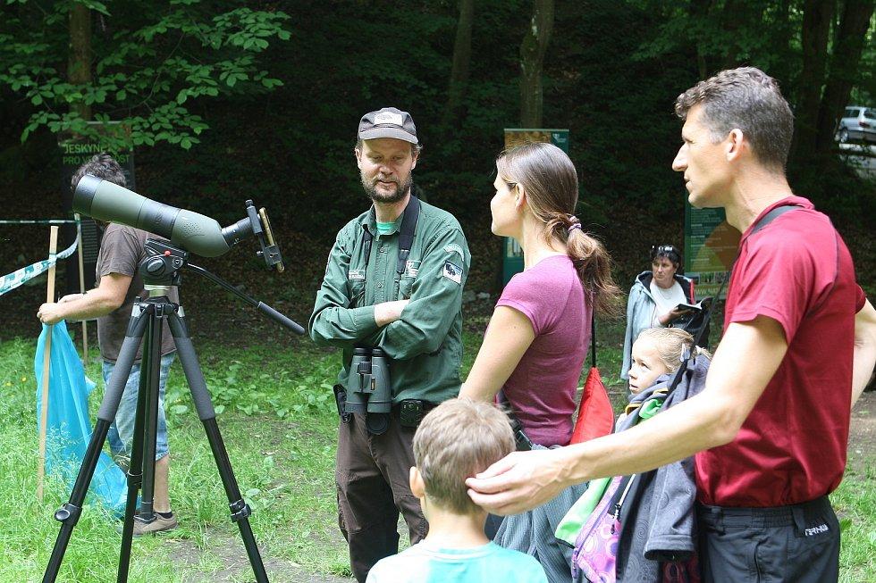 Den otevřených dveří jeskyně Býčí skála v Moravském krasu na Blanensku.