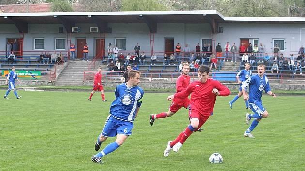Fotbalisté divizních Boskovic podlehli po matném výkonu Třebíči 0:2.