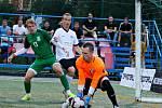 V úvodním utkání nového ročníku Superligy malého fotbalu porazilo Blanensko (bílé dresy) na svém hřišti v Boskovicích tým Příbrami 10:3.