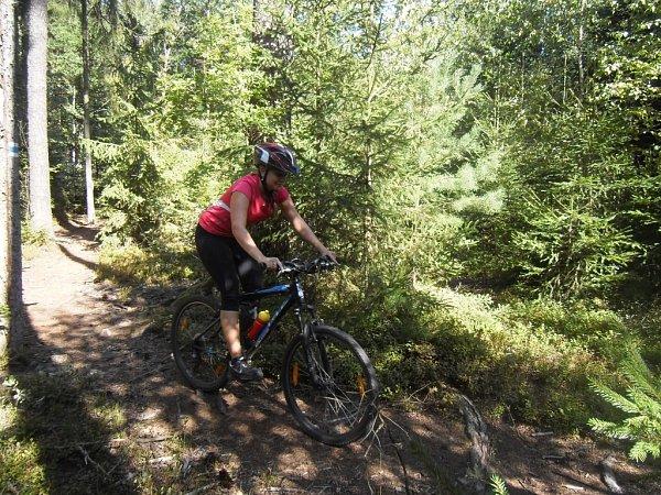 Monika Učňová zValchova miluje hru na trubku, ale také jízdu na kole.
