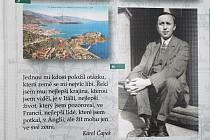 Výstava Pozoruhodný svět Karla Čapka v rájecké knihovně.