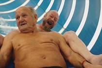 Josef Krupa z Blanska je v těchto dnech hlavní hvězdou reklamy na Aqualand Moravia.