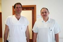 Noví primáři chirurgie a interny v boskovické nemocnici.