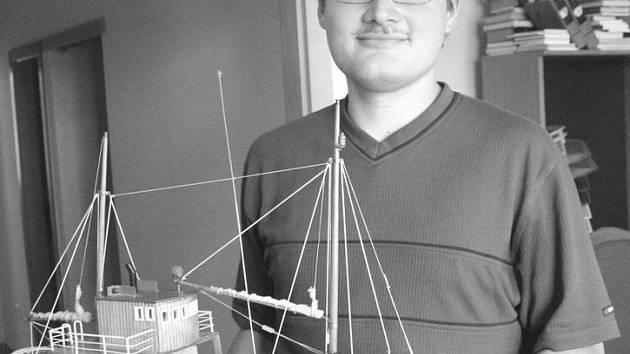 Modelář lodí Vladimír Šmíd
