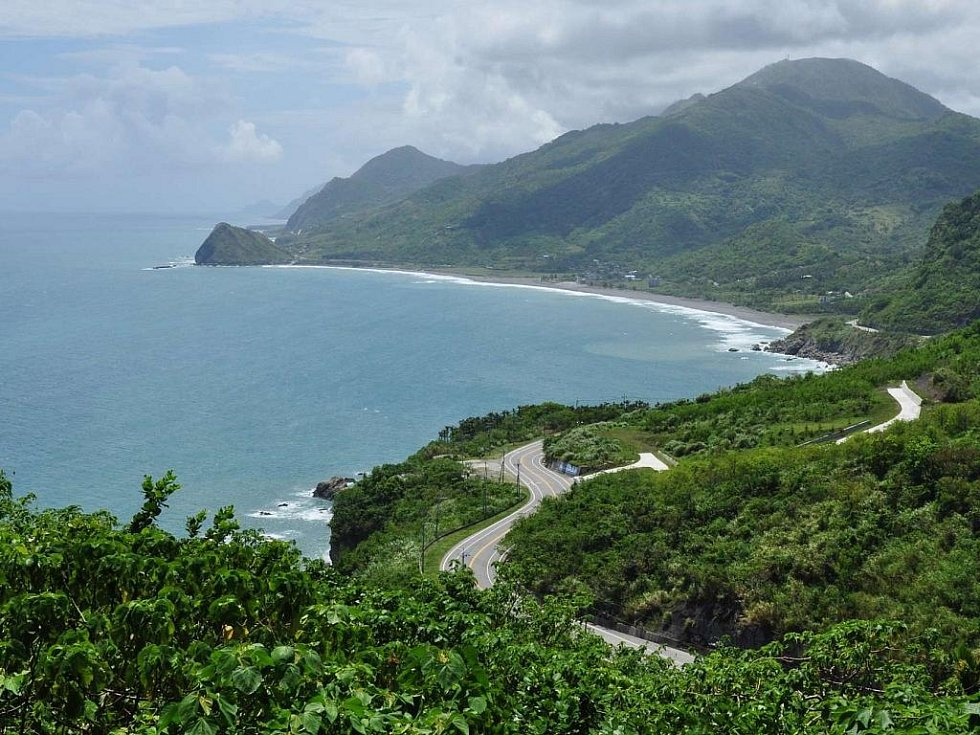 východní pobřeží Taiwanu