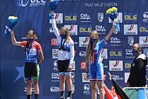 Amálie Gottwaldová získala v závodě žákyň ve věku 14 let bronzovou medaili.