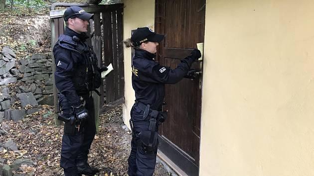 Policisté kontrolovali rekreační oblast.