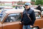 Na blanenském náměstí Republiky se konal tradiční sraz aut značky Trabant. Už po dvanácté.