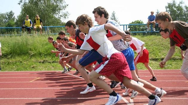 Stadion ASK Blansko byl po dva dny dějištěm atletického víceboje základních škol.