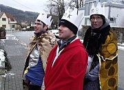 Ulicemi Blanska procházeli v sobotu Tři králové.