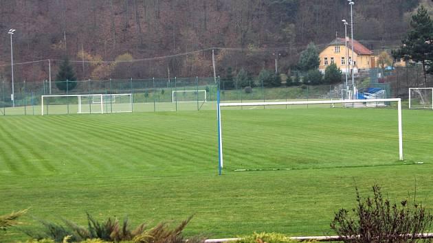 Fotbalový stadion v Boskovicích.