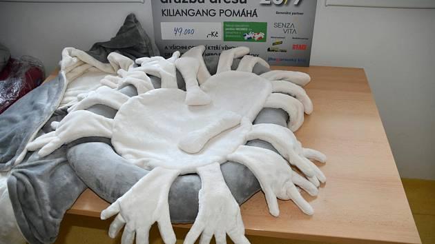 Motorkáři předali v boskovické nemocnici speciální pelíšky. Pro dříve narozené děti.