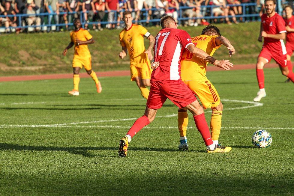 FORTUNA:NÁRODNÍ LIGA: Blansko (červená) - Dukla Praha 1:0.