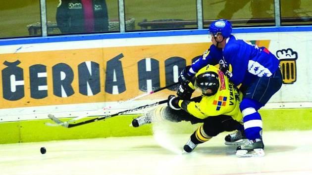 Hokejisté Blanska pokořili i bez opor Šlapanského a Látala Kroměříž čtyřmi góly a připsali si první výhru.